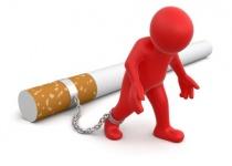 sigaret aan het been